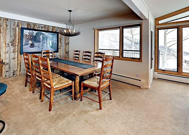 Dining area with more views of  the Continental Divide and more.