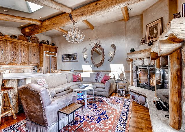 Cozy and comfortable.  Gas fireplace and flat screen TV.