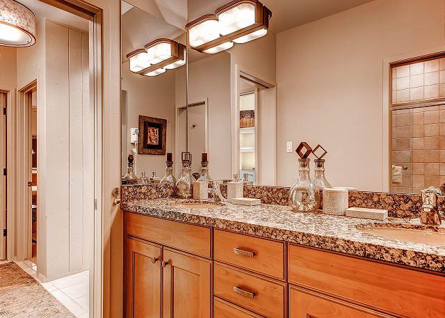 Bathroom downstairs double vanity