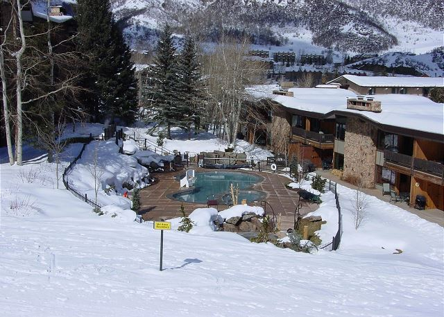 A view of Shadowbrook Condos from chair lift.