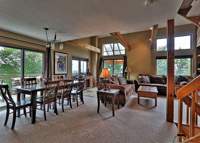 Dining and Living area in Trailside 28A
