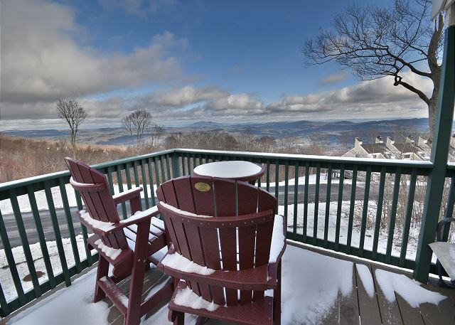View from the deck of Trailside 45A at Okemo