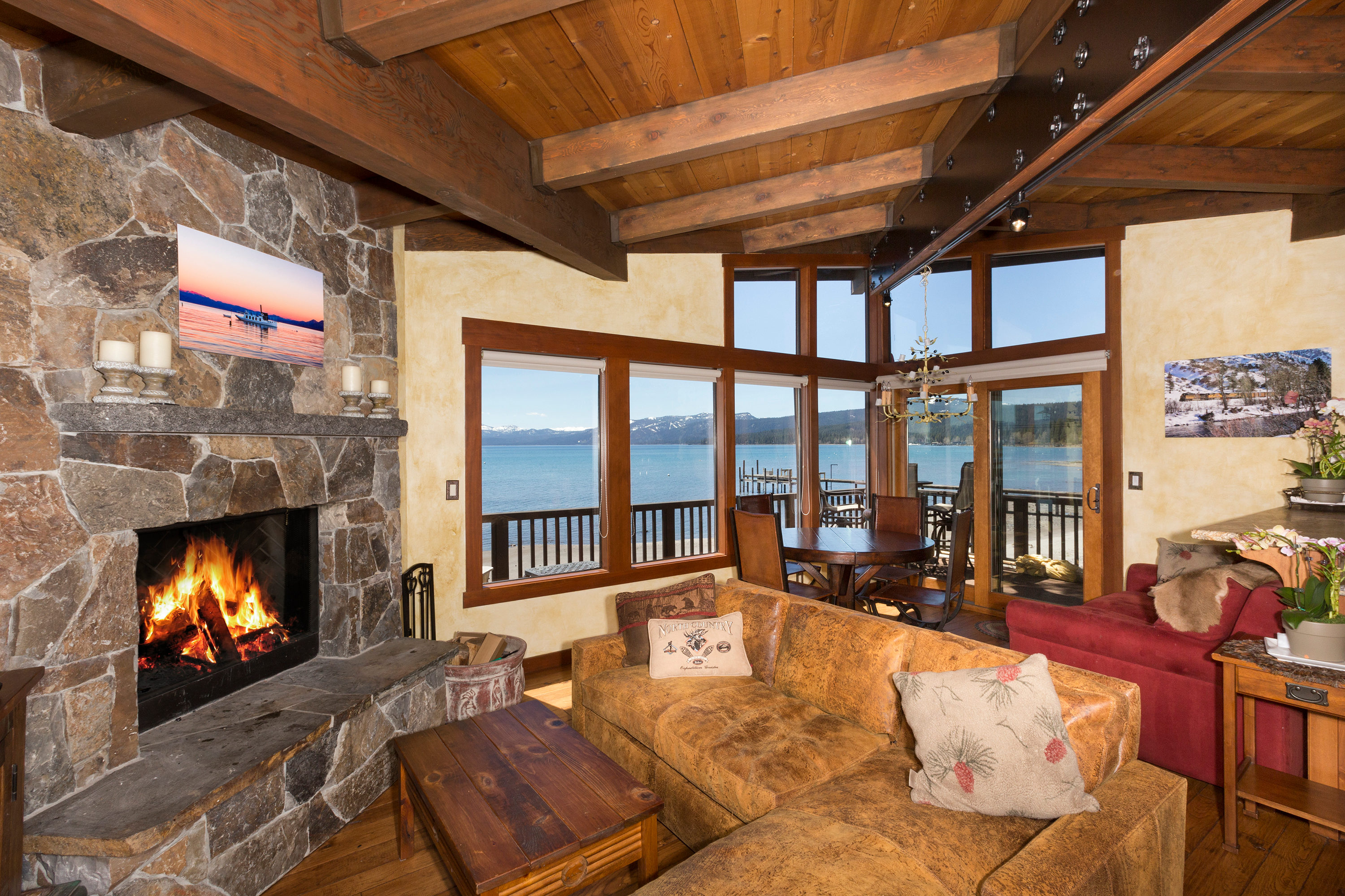 Lake tahoe rental star harbor lakefront 9 for Cabin rental tahoe