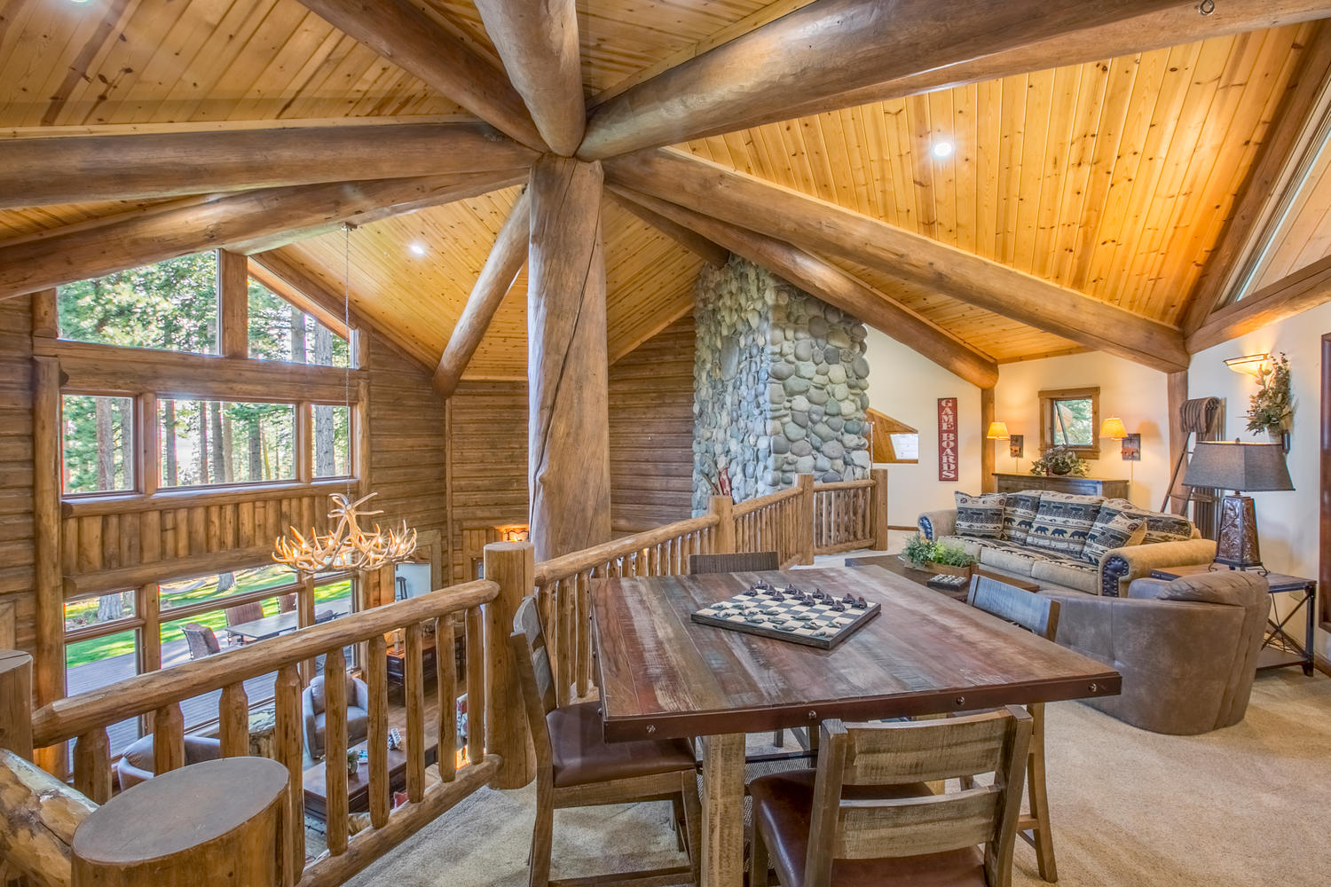 Inviting loft at Bear Paw Lake View Lodge