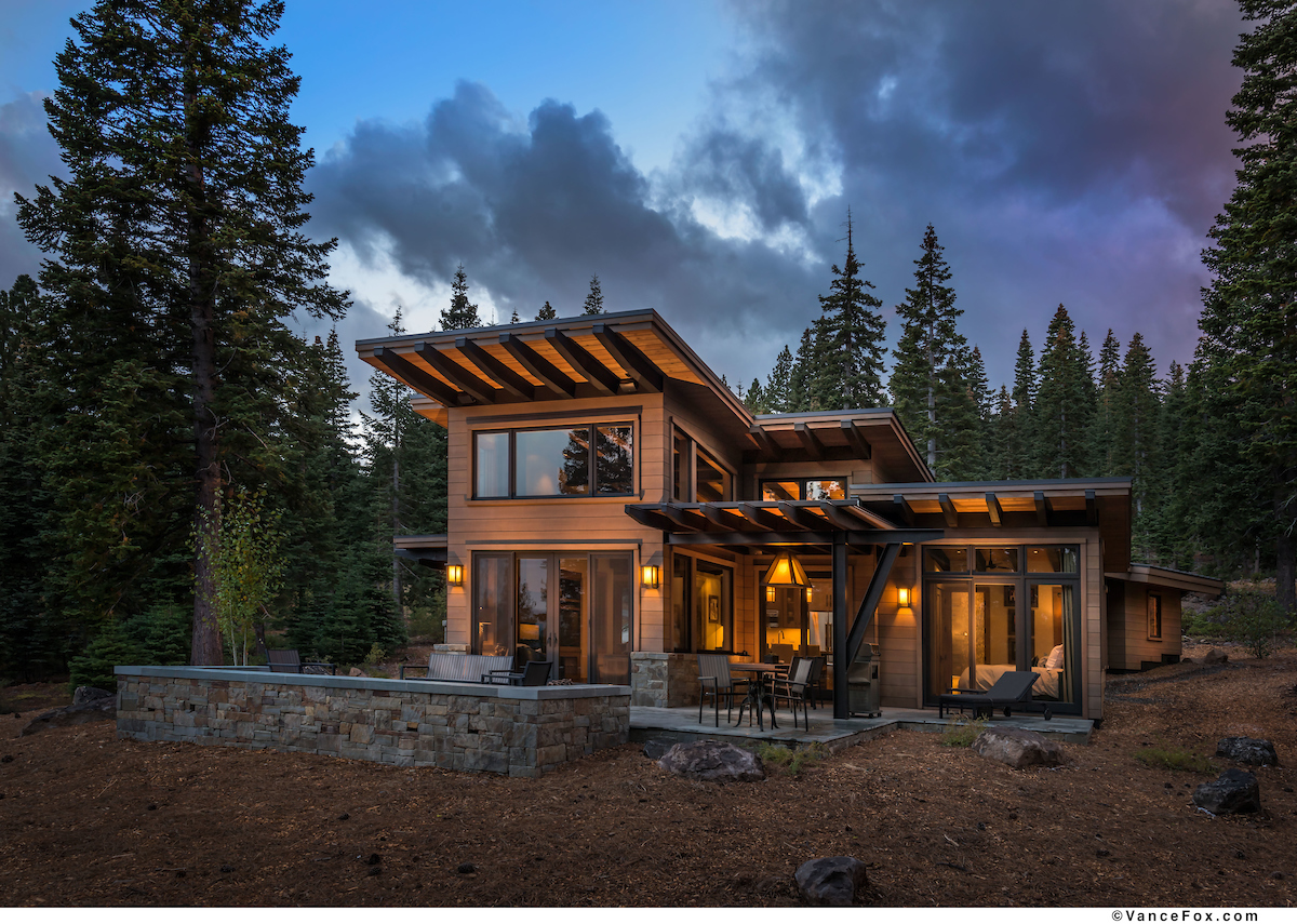 Lake tahoe rental villa valhalla at martis camp for Contemporary log home plans