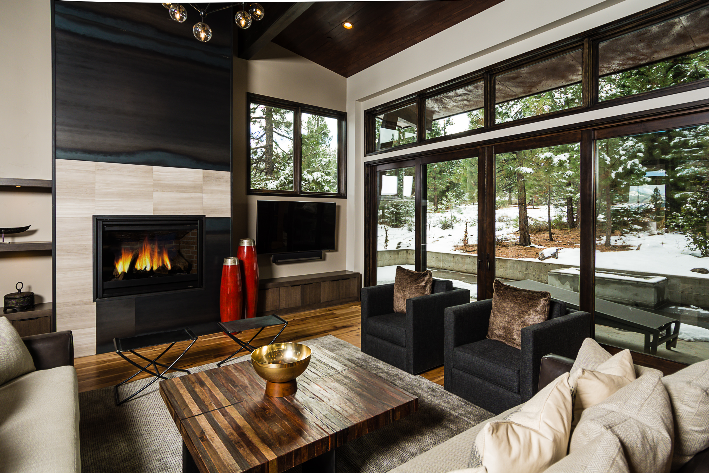 Great room in Mountain Modern, a Tahoe vacation rental