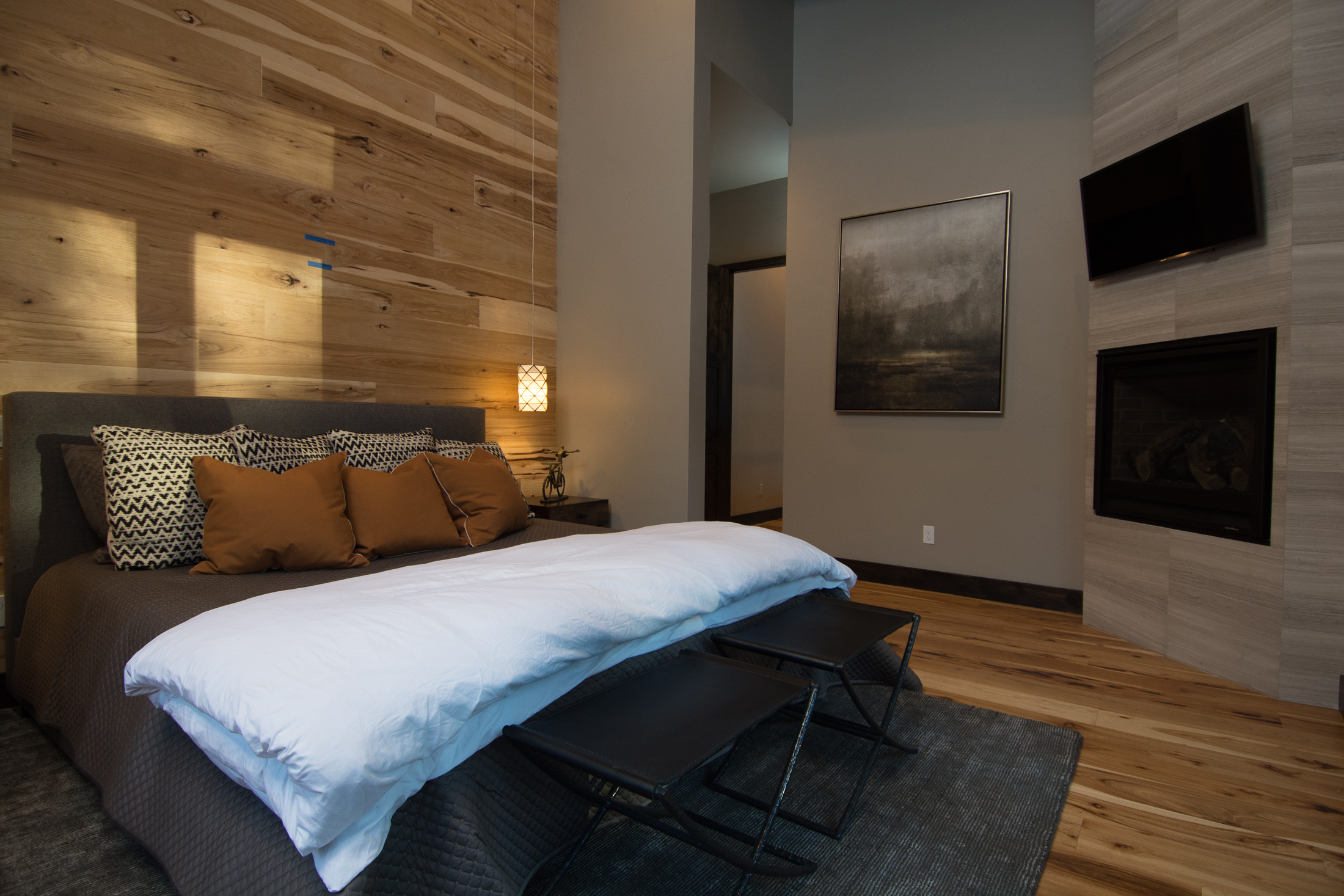 Bedroom in Mountain Modern at Schaffer's Mill Lake Tahoe