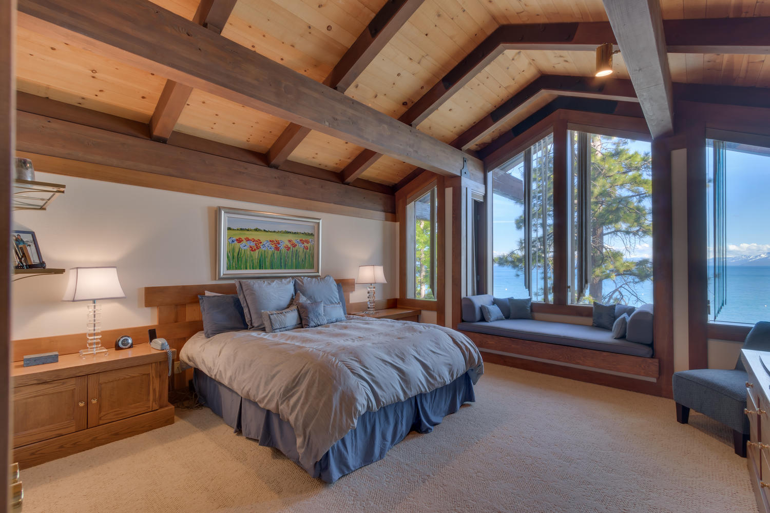 Master Bedroom at Whispering Pines Tahoe vacation rental