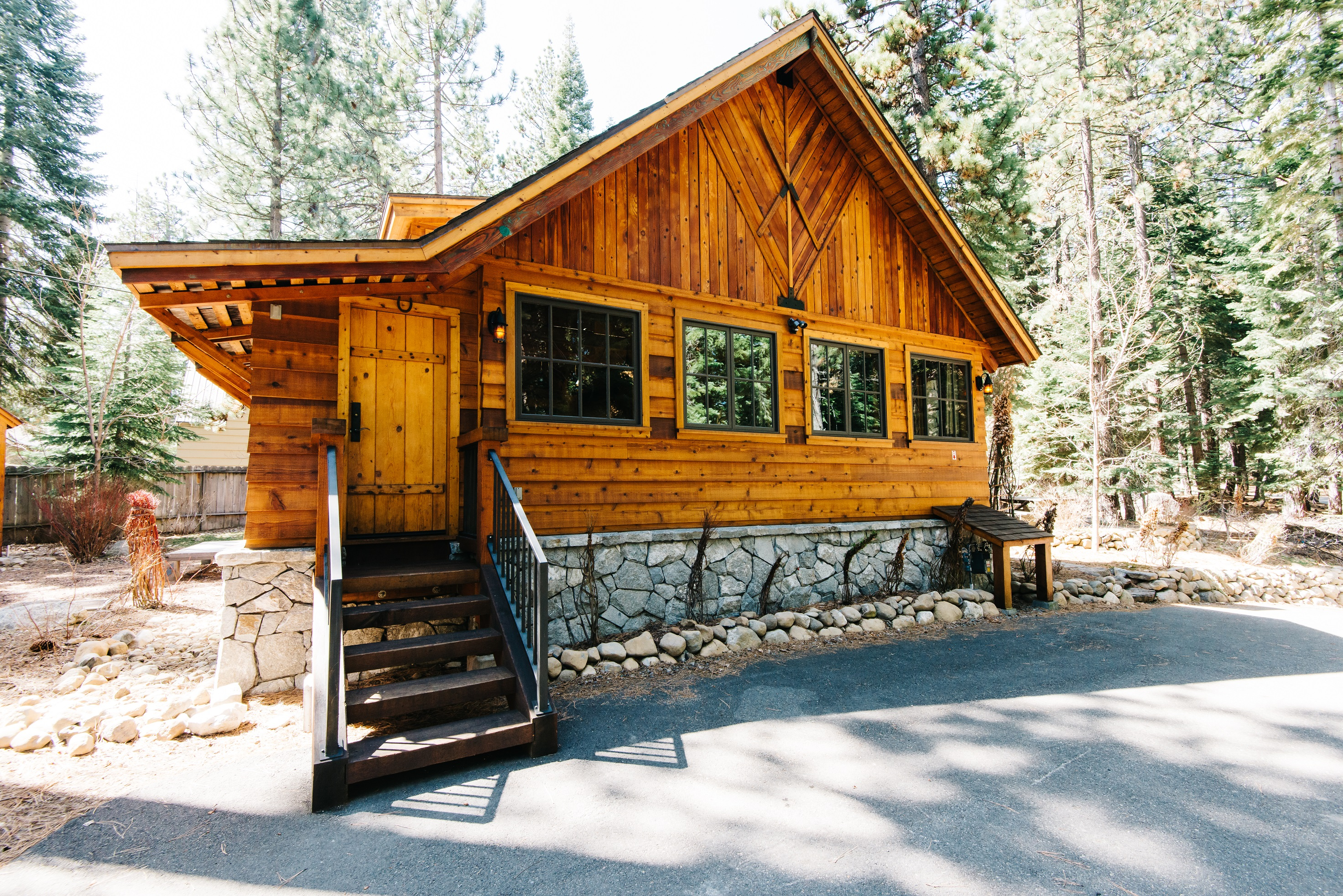 in for cabin rentals campgrounds with log sale tahoe south cabins lake