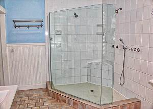 Supremely spacious standup shower, Master Bath