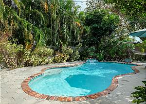 Full view of the pool from the covered patio