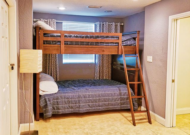 View of the Bunk Beds with Double mattresses