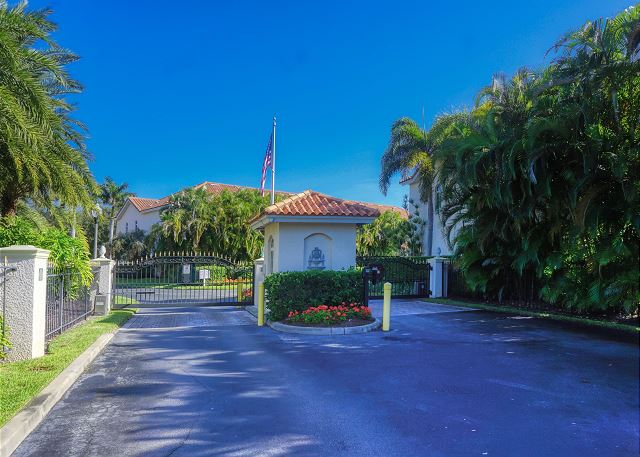 Your view as you enter the Gated Community of Villas Del Verde. Entry is accessed with a Fob or a Code that will open the gate.