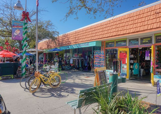Eclectic Downtown Gulfport Art District, a street filled with visual fun, shopping, restaurants and beach access.