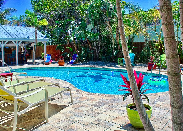 Its a Sunny Day at Coconut Grove, the pool and tropical gardens are splash ready!