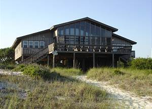 View of the house from the beach-Descriptive