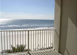 View from the 6th floor balcony of the beach-Descriptive