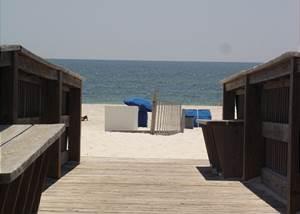 Boardwalk to the beach-Descriptive