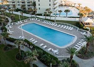 View of the pool from the balcony-Descriptive