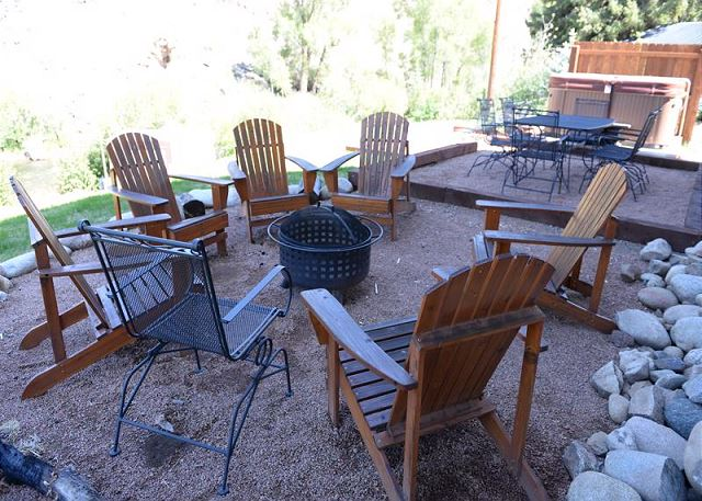 Fire pit and outdoor seating