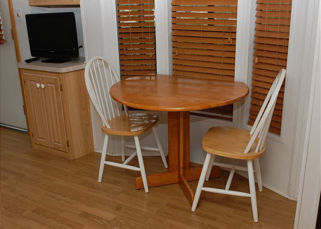 Table in kitchen area