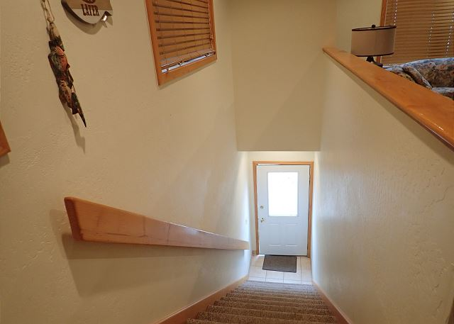 Stairwell going down to entrance