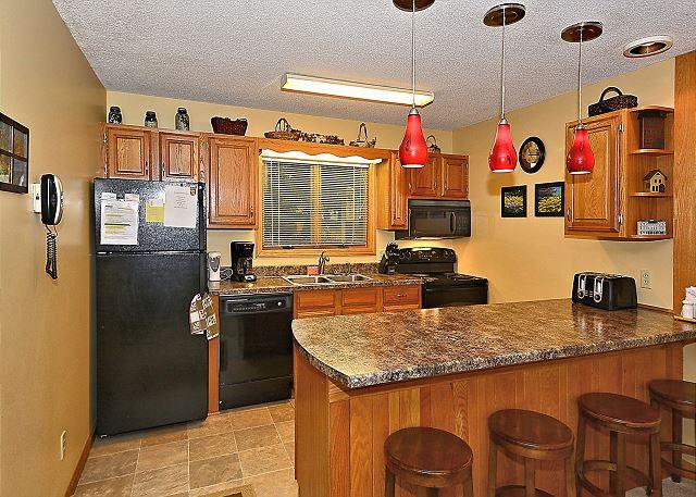 Updated kitchen and breakfast bar