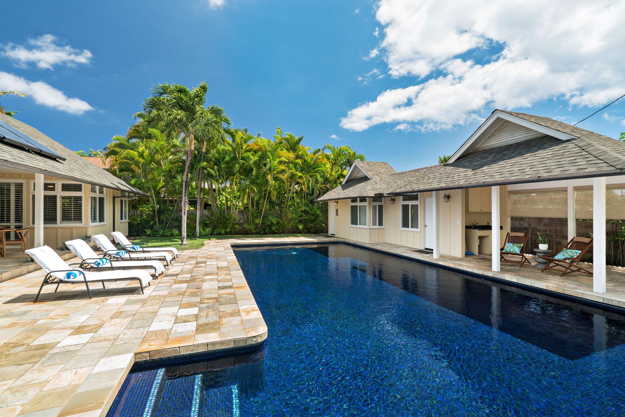 Pool and Ohana Cottage