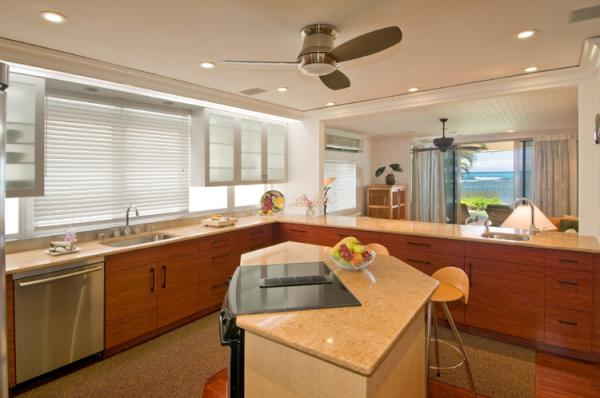 Kitchen with oceanview