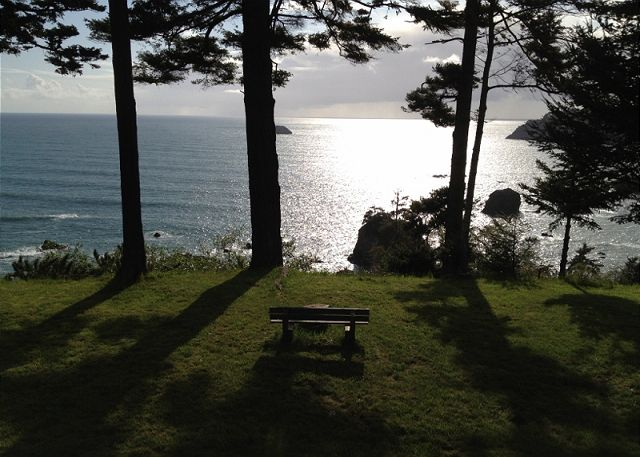 Sit and meditate from the bench while taking in the incredible seascape.