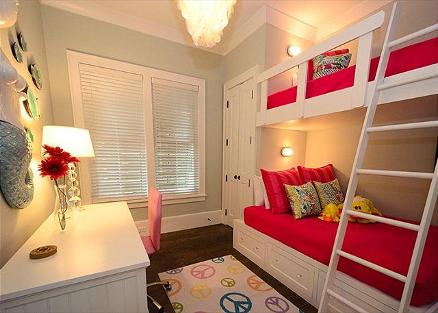 1st Floor: Guest Room with Twin Over Double Bunk Bed