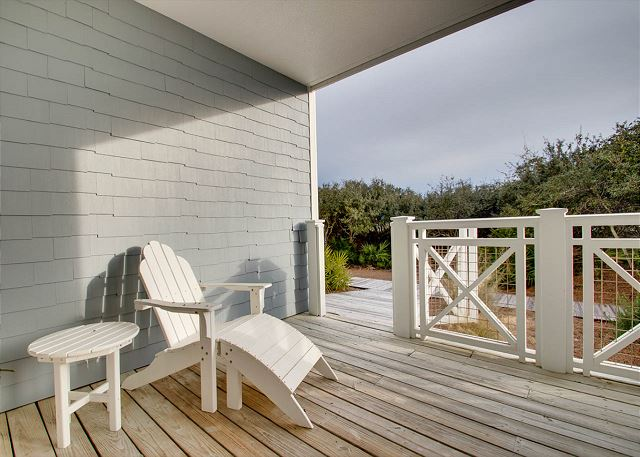 First Floor: Porch with Boardwalk to the Beach
