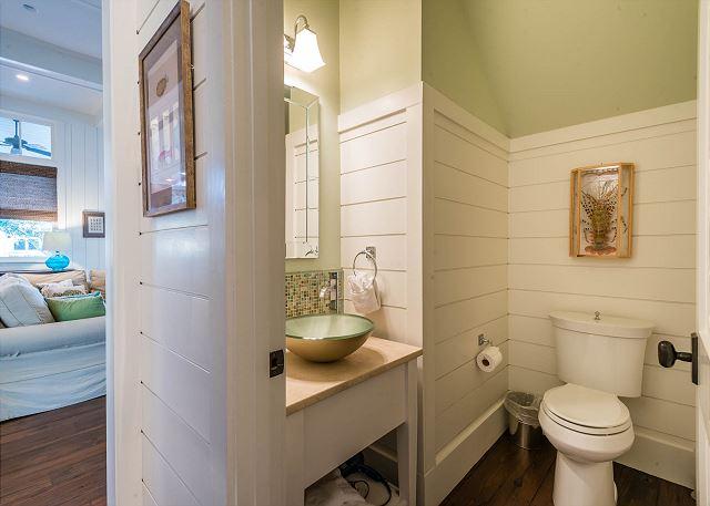 First Floor: Guest Half Bathroom