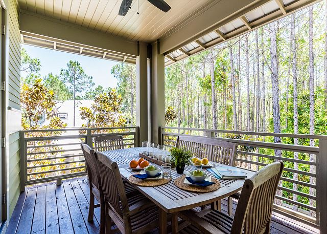 Second Floor: Outdoor Dining off Kitchen