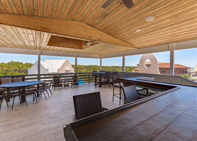 Third Floor: Rooftop with Lake and Gulf Views