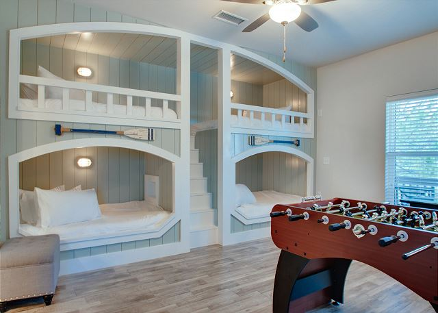 Third Floor: Bunk Game Room