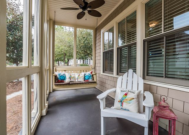 Front Porch with Swing