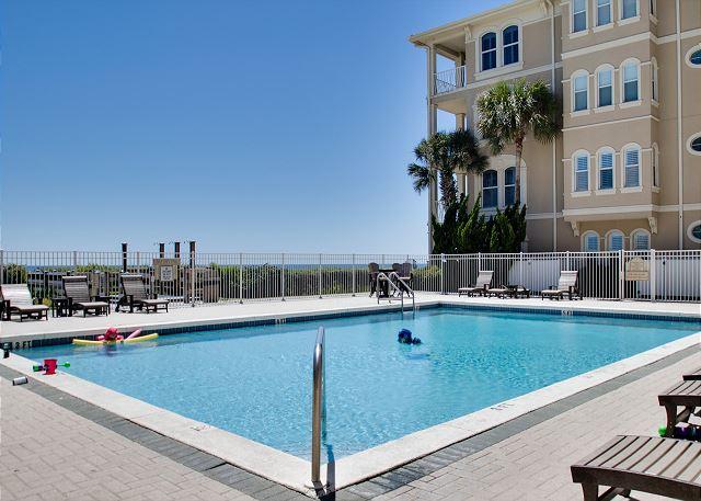 Villas At Sunset Beach Pool Overlooking the Gulf