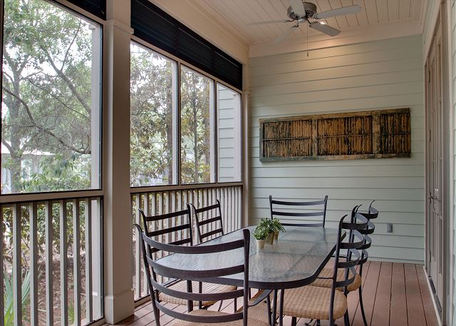 First Floor: Screened Porch with Dining Area