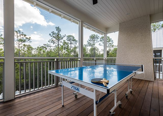 Second Floor: Screen Porch with Ping Pong Table