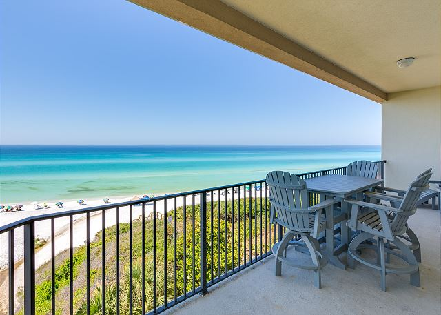 Unit 402 Balcony overlooking the Gulf