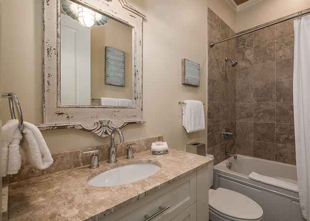 First Floor Shared Bathroom with Shower/Tub Combo