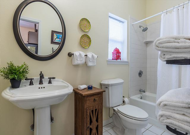 First Floor: Shared bathroom