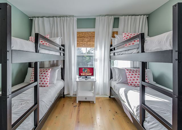 Second Floor: Bunk Room with Two Twin Over Twin Bunks