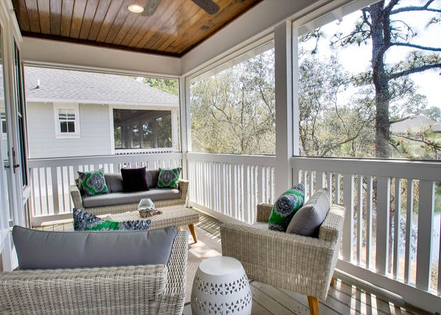 Second Floor: Porch with Sitting Area