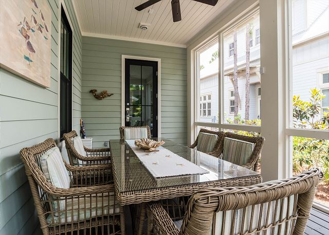 First Floor: Screened in Porch Dining