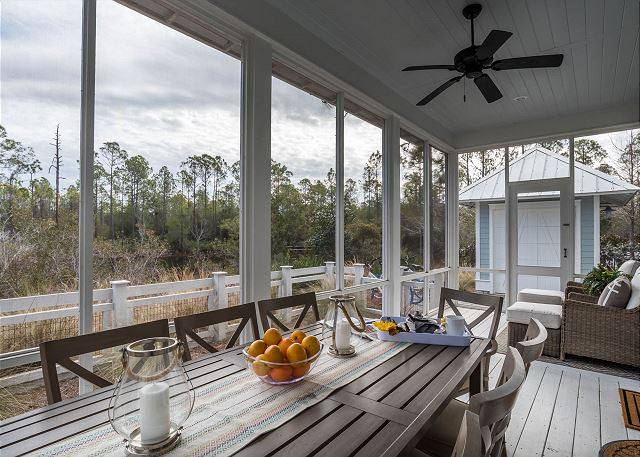 Back Porch overlooking Pond and Forest