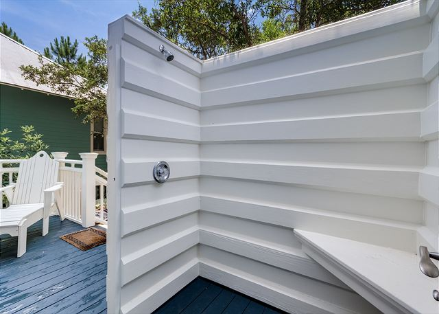 Outdoor Shower and First Floor Deck