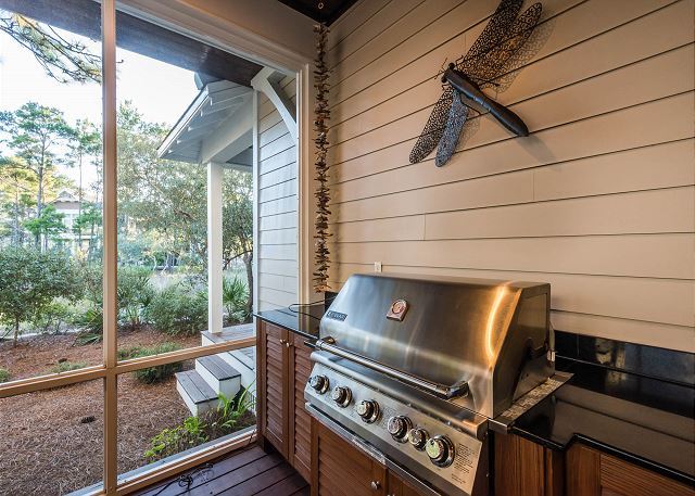 First Floor: Porch with Gas Grill