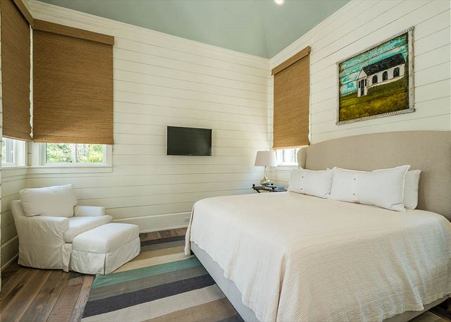 First Floor: Attached Carriage House Guest Bedroom